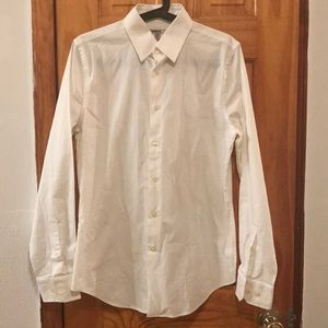 Express white button down